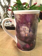 "Thomas Kinkade painting ""Hometown Bridge"" coffee/tea mug, 2003."