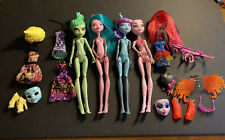 Monster High Create A Monster 4 Doll Lot - Gorgon, Sea, Color Me, Love - Sweet