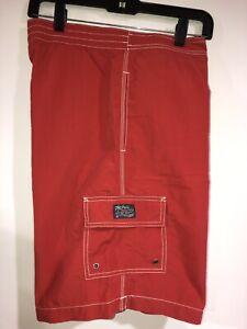 Men's Polo Ralph Lauren Swimwear Red Swing Trunks Shorts, Size L