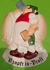 Goebel Octoberfest cheers Beer Wurst Ozapft Is Prost Wall Plaque RARE w Germany