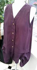 MINA UK Purple Size 12 Ladies Sheer Blouse ~ Pretty Buttons