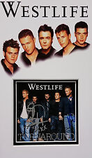 WESTLIFE Signed 12x7 Photo Display BYRNE, EGAN, FEEHILY, FILAN, McFADDEN COA