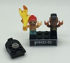 Kre-o Kreo Mini figure Cityville Invasion Collection 2  Kneedrops and El Fuego