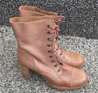 Lovely Ladies Clarks Lace Up Brown Leather  Boots Size 7, Worn Once