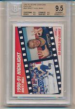 1991 Score Canadian Brett Hull Highlight (#302) (All 9.5 sub grades) BGS9.5 BGS
