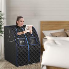 Portable Far Infrared Sauna One Person Saunas Home Spa w/ Foot Pad Folding Chair
