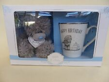 "Me to You Tatty Teddy Bear & Mug, ""Happy Birthday"" New Boxed."