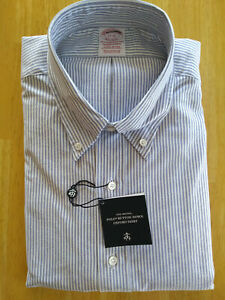 New Brooks Brothers Blue University Oxford Button Down Traditional MSRP $140