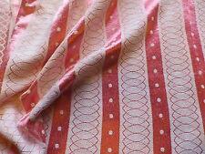 Vintage 1940's 50's Shiny Cotton Brocade Interiors Fabric Pink Stripe Design