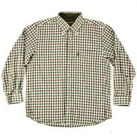 Barbour The Country Shirt Long Sleeve Button Down Plaid Mens Size Large L EUC