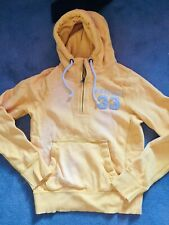 NWT $100 New Abercrombie & Fitch Men Hooded Sweater Yellow Size M