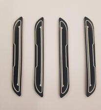 4 x Black Rubber Door Boot Guard Protectors WHITE Insert (DG5) fits VOLKSWAGEN