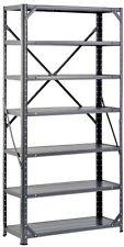 Edsal Hc30127 Steel 7-Shelf Shelving Unit, 750 Lb Capacity, 30 Width X 60 X 12