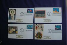 Stampin' the Future 33c Stamps 4 FDCs William Sc#3414-17 10970 Kids Care