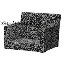 IKEA Cover for NILS Armchair Eslöv Black White Rare Nils Chair Slipcover New