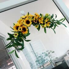 Arch Front Door Wall Decor Wreath Garland Artificial Fake Sunflower Swag Fabric
