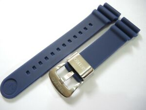 NEW 22MM BLUE RUBBER STRAP FITS SEIKO PROSPEX TURTLE SRP773-779 DIVER'S WATCH