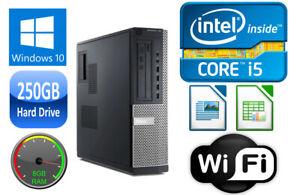 Dell OPTIPLEX 790 Desktop i3/i5 DUAL/QUAD CORE 4/8GB RAM 250GB HD USB 3.0 WIN 10