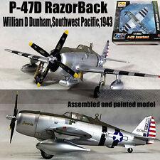 WWII P-47D RazorBack by Willam D Duham 1943 1/72 no diecast plane Easy model