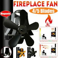 Stromloser Kaminofen Ventilator Stove Fan 5/4 Blade Gebläse Herd Lüfter Holzofen