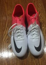 New Nike Mercurial Vapor VIII SG Soccer Shoes Cleats Boots White Pink Size 13