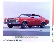 1972 Chevrolet Chevelle Malibu SS 454 RPO Z15 info/specs/photo/prices 11x8