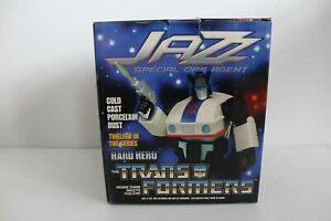 Transformers Hard Hero Special Ops Jazz Statue Bust broken G1 Hasbro Authentic