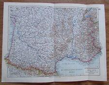 Südfrankreich Frankreich - alte Landkarte Karte old map 1928
