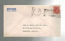 1915 Napanee to Hamilton Ontario Canada Ross Miller Biscuit Advertising Cover