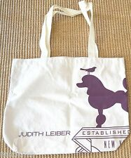 Judith Leiber COTTON Canvas SHOPPING BAG Grocery GYM TOTE ECO Friendly GIFT NEW