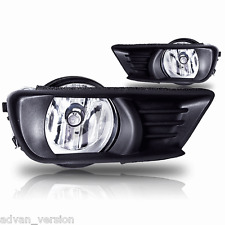 2007-2009 Toyota Camry Fog Lights Front Bumper Lamps Clear Lens COMPLETE KIT