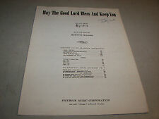 May The Good Lord Bless And Keep You Meredith Willson 1950 Sheet Music
