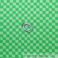 BonEful Fabric Fq Cotton Quilt Green Vtg Calico Sm Bright Clown Check Block Xmas