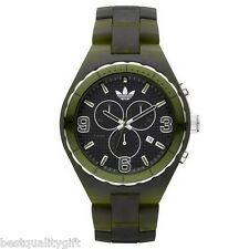 NEW ADIDAS CAMBRIDGE ACRYLIC MATTE GREEN CHRONOGRAPH WATCH+DATE ADH2566