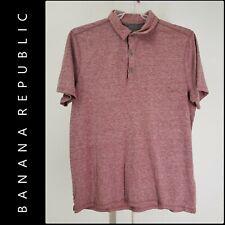 Banana Republic Men Career Formal Polo Short Sleeve Shirt Size XL Red