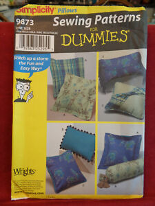 NEW Factory Folded Sewing For Dummies Pillow Pattern 9873