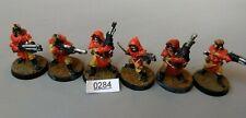 6 Cawdor Gang members - Necromunda - Metal - Citadel 1995 - 2 Juves 4 Gangers