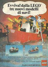 X2236 LEGO - Tre nuovi modelli di navi - Pubblicità 1983 - Advertising