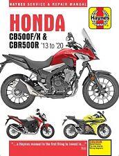 2013-2020 Honda Cb500F Cb500X Cbr500R 471cc Haynes Repair Service Manual 14653 (Fits: Honda)