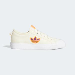 adidas Originals Womens Nizza Trefoil Classic canvas shoes cream