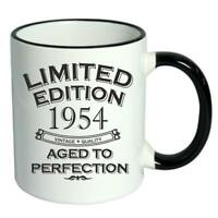 65th Birthday Novelty Cup Mug Coffee Tea Limited Edition 1954 Aged To Perfection