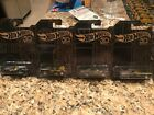 Lot of 4 NEW Hot Wheels 50th Anniversary Black and Gold 2-5 2/6 3/6 4/6 5/6