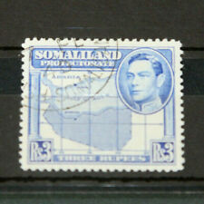 SOMALILAND - GVI 1938 3 RUPEES HIGH VALUE - BLUE - FINE USED