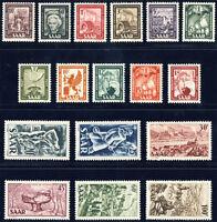 SAARLAND 1949, MiNr. 272-288, 272-88, tadellos postfrisch, Mi. 140,-