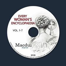 Every Woman's Encyclopaedia 1912 PDF 7 E-Books on 1 DVD Dressmaking Cookery