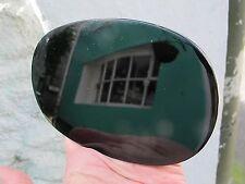 OVAL BLACK OBSIDIAN SCRYING MIRROR POLISHED CRYSTAL  14 X10x.5 CMS 227g