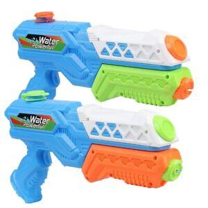 "2Pcs 13"" Water Gun Super Soaker Kids Summer Squirt Blaster Swimming Pool Toys Ah"