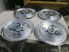 """1958 and 1959 Edsel 14"""" spinner hubcaps (4)"""