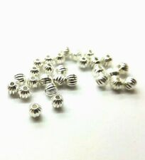 BUY 3 GET 3 FREE 100 Pcs Plated Alloy Silver Watermelon Metal Spacer Beads A0307