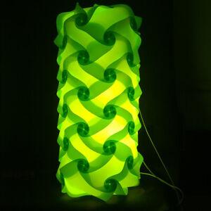 Bzwoyk 60 PCS Modern IQ Puzzle Jigsaw Light Lamp Shade Lampshade Small Cylinder